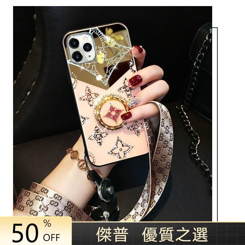 聰芹10號店奢華水鑽指環扣手機殼 OPPO A31 2020 A91 Realme X50 Reno4Z pro0906