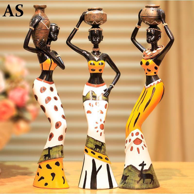 ※創意家居裝飾擺件樹脂娃娃非洲人物裝飾品新房客廳裝飾擺件工藝品※uzbcsq4vni