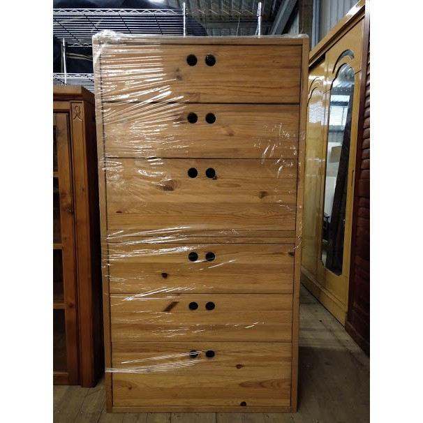 【土城二手市集】宜家 IKEA 松木 六斗櫃 實木斗櫃 原木衣櫃 抽屜櫃 玩具箱 收納櫃 置物櫃 電視櫃