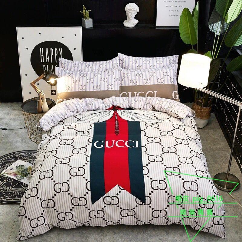 歐美床包 古馳 gucci 蜻蜓床包 大紅喜慶婚慶床包 卡通 粉紅豹 磨毛加厚雙人加大雙人床包 網紅學生單人床包床組床罩