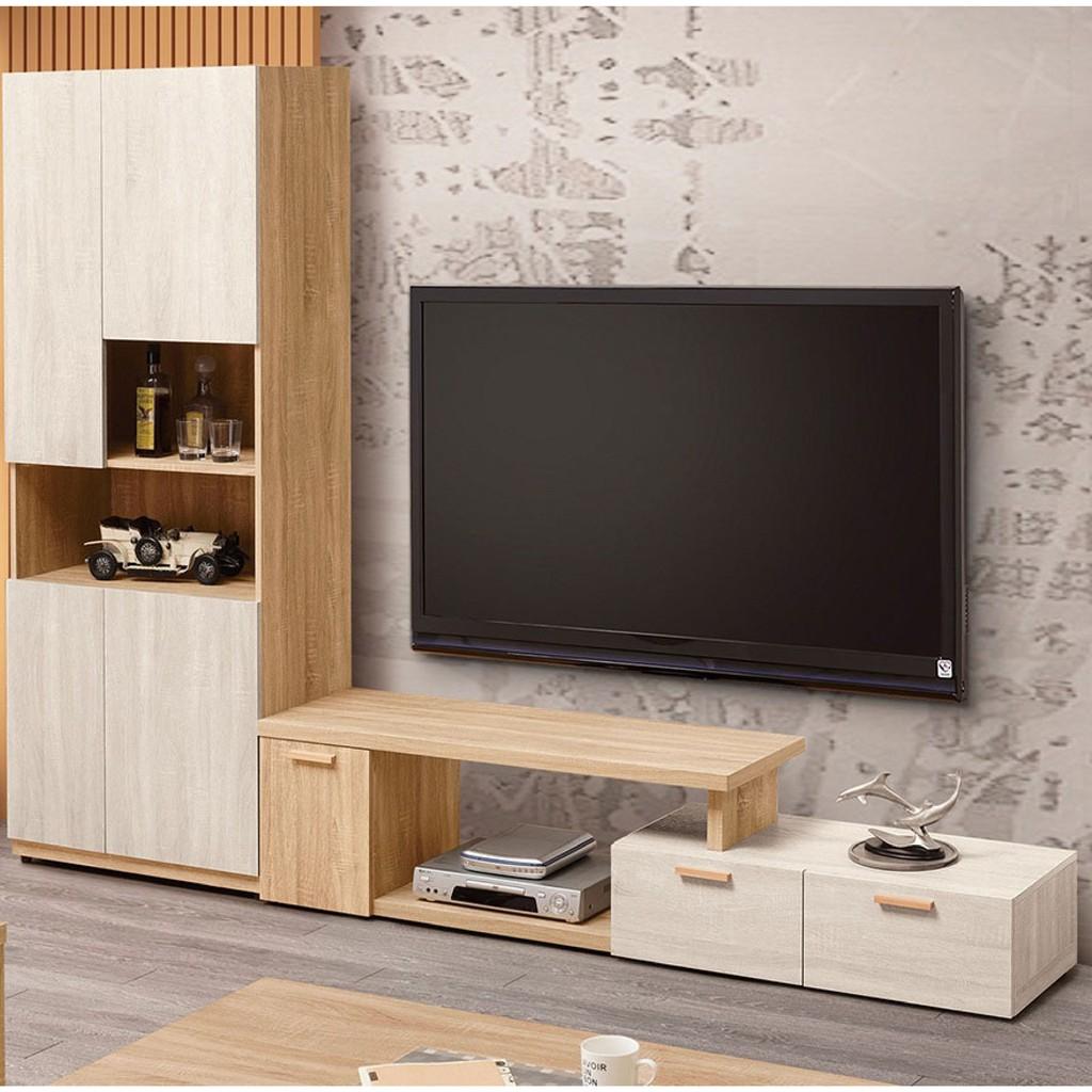 【195~267cm伸縮L型電視櫃-A360-2】客廳組合長櫃 展示收納櫃 北歐工業風 TV櫃 【金滿屋】
