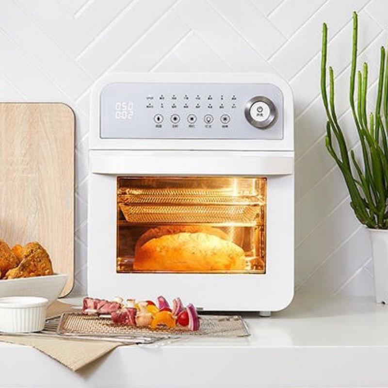 ARCOS氣炸烤箱【日本BRUNO】多功能電烤盤(聖誕紅)內附平板+六格式料理盤/上掀式水蒸氣循環烤箱