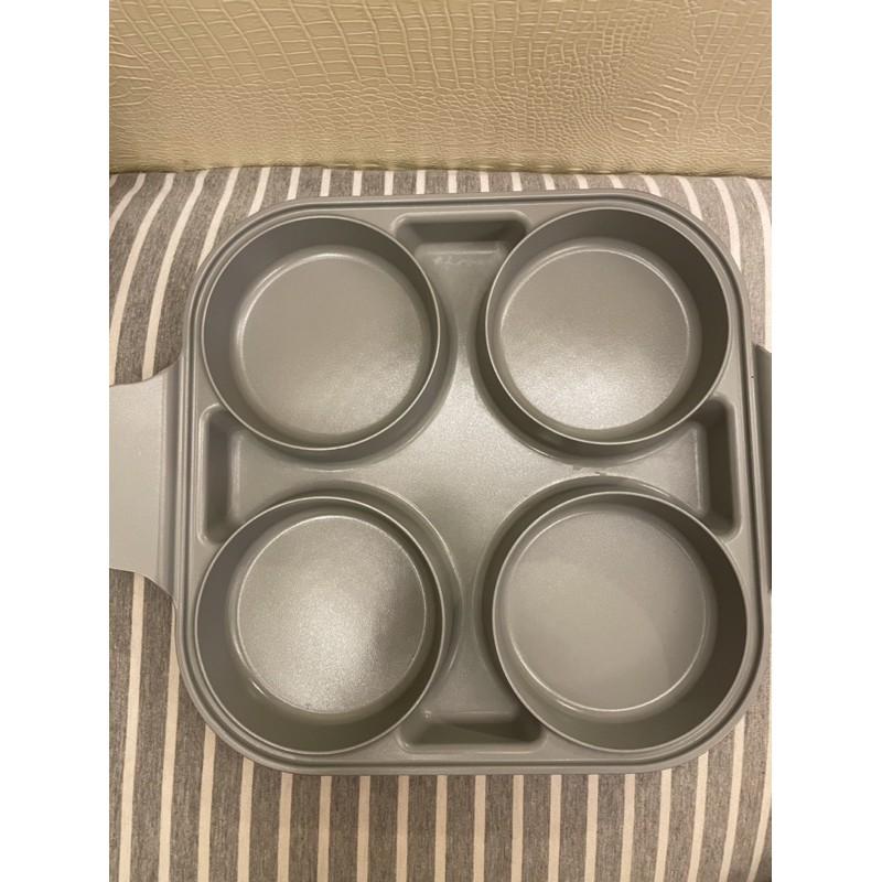 含運宅配 韓國neoflam 陶瓷雙耳四格鍋 煎鍋