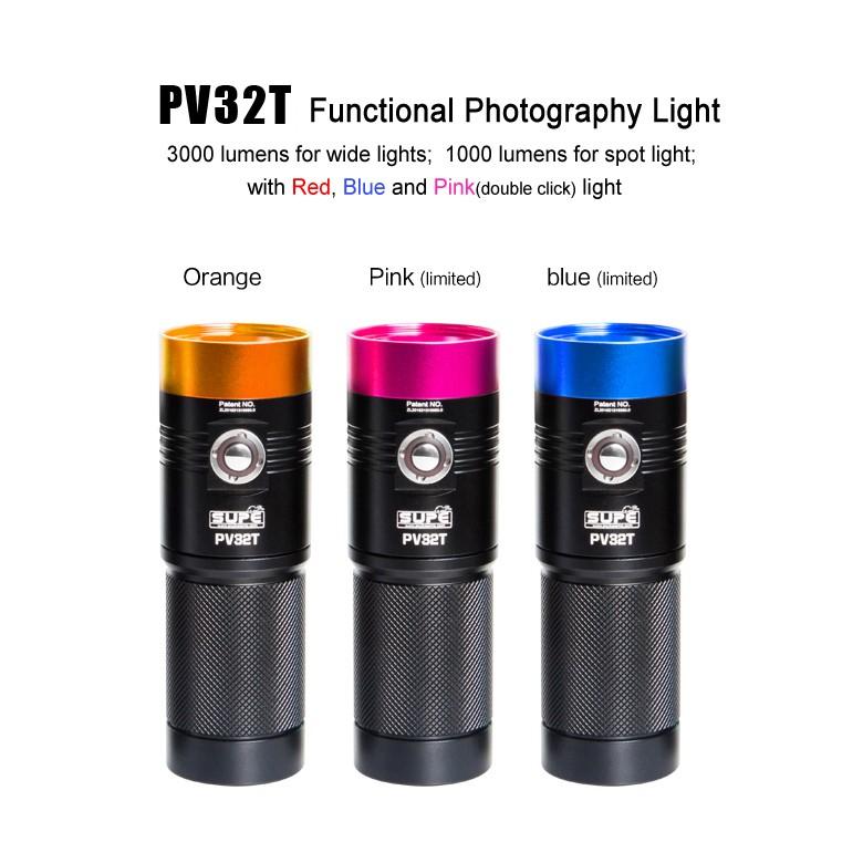 SUPE PV32T 3000流明 潛水攝影補光燈