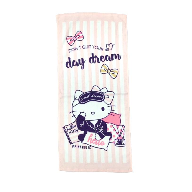 【Sanrio三麗鷗】凱蒂貓軟香毛巾 100%棉 33x76cm [ PinkHolic系列 ]