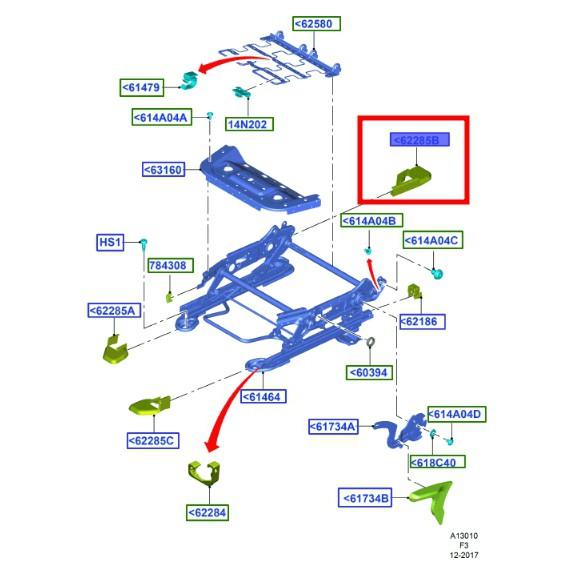 【JT福特原廠】FORD FOCUS MK3 MK3.5 正廠 駕駛座 椅子滑軌飾蓋 右後方