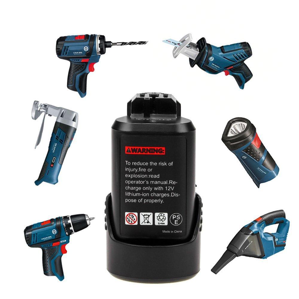 博世bosch替換鋰電池10.8V / 12V工具BOSCH GSR 120-li可充電鑽電池BAT411