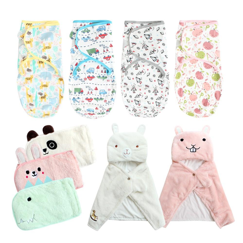 Augelute Baby童衣 嬰兒包被 新生兒懶人包巾 嬰兒睡袋背心 動物造型被毯 毛毯 保暖肚圍 60164