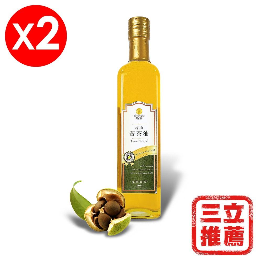 【梅山】金牌冷壓第一道苦茶油2入組-電電購