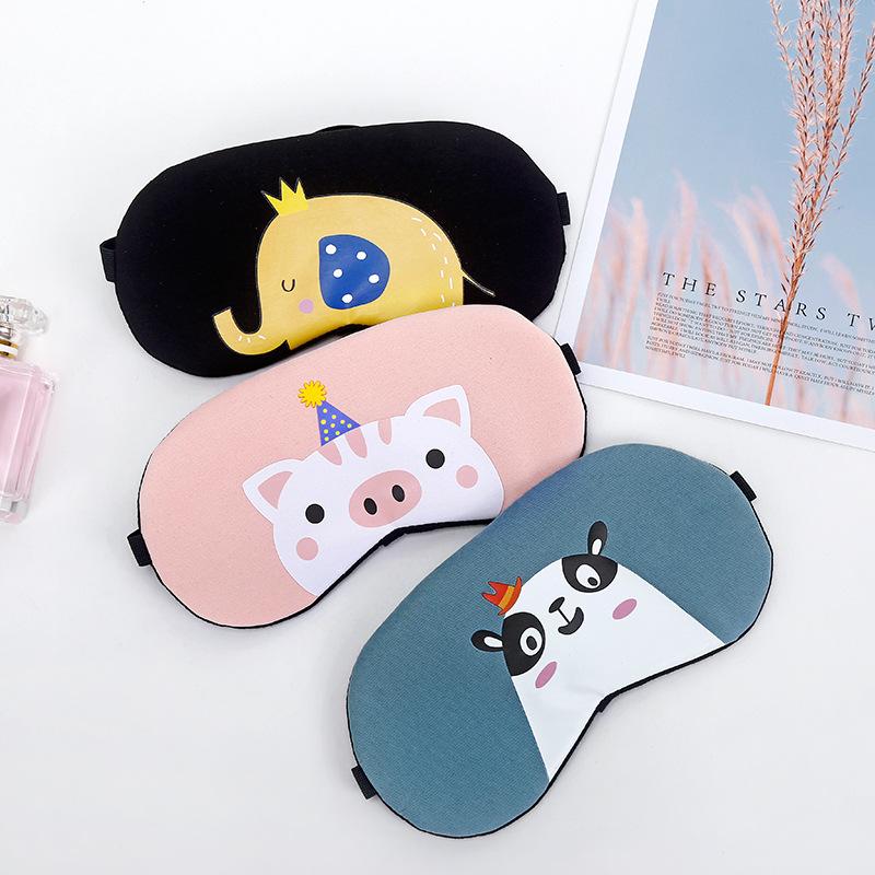 可愛卡通動物冷熱兩用眼罩 A2740 冰袋遮光助眠冷熱敷睡眠眼罩