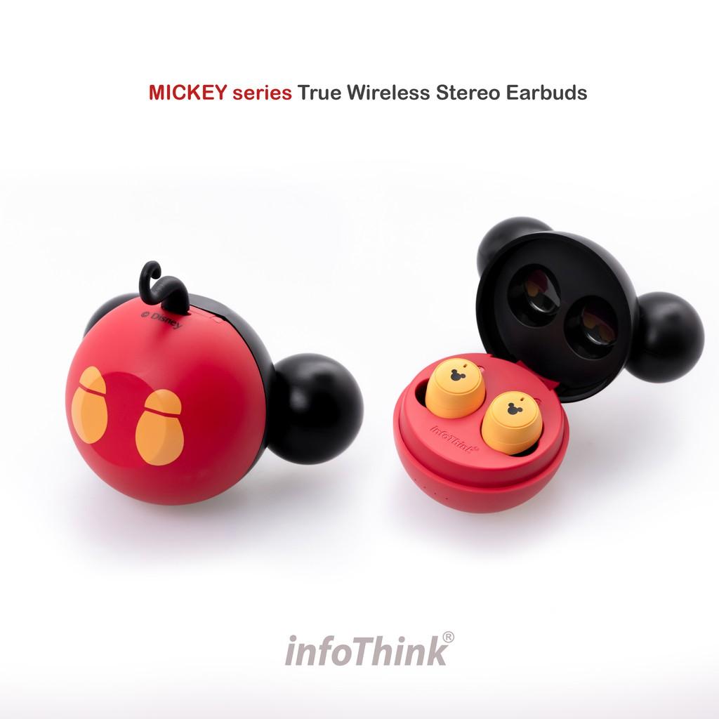 InfoThink 迪士尼米奇系列真無線藍牙耳機(經典黑紅色)