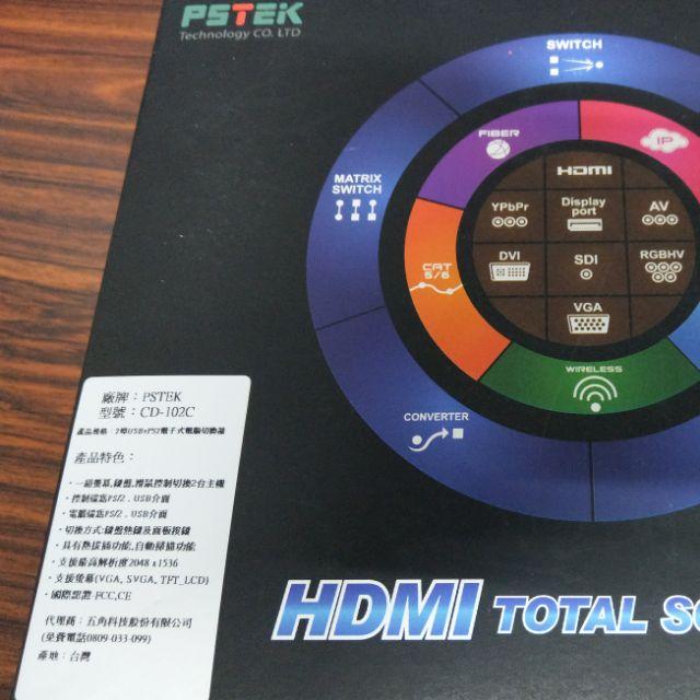 pstek kvm 2埠 USB 電腦切換器 (CD-102C)