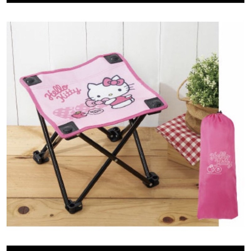 ~Hello Kitty休閒好攜帶摺疊椅(附收納袋)