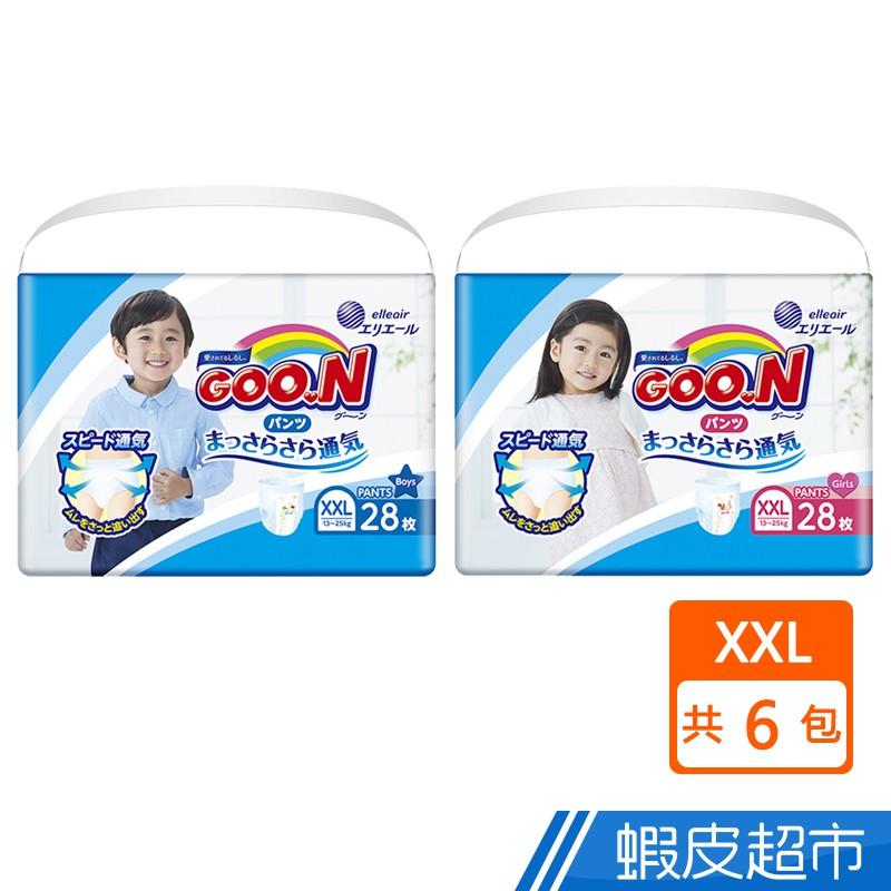 GOO.N日本大王 褲型透氣舒柔 XXL 男女 6包/箱 廠商直送