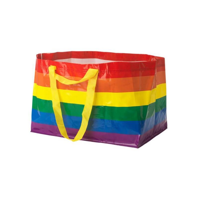 澳洲 ikea 設計師聯名款  彩虹 購物袋 防水 全新