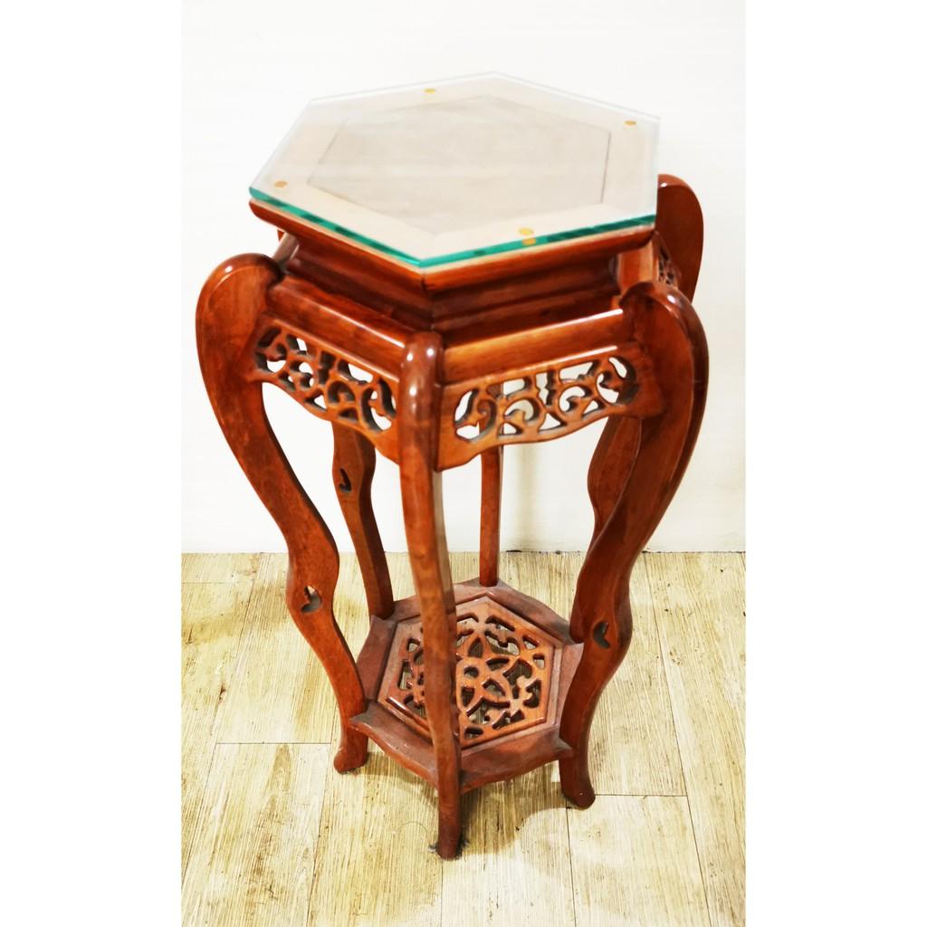 現代花梨木花架 可放招財風水 附贈訂製玻璃 二手 另有神明桌 跪墊 實木矮櫃