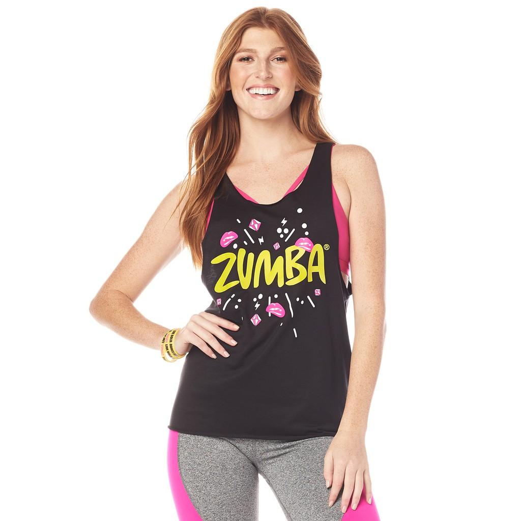 【ZUMBA】女裝運動背心 XL零碼 Zumba Dance Bold Loose Tank
