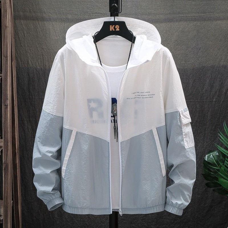 機能防護夾克 機能防護外套 夏季男士防曬衣外套超薄款學生防曬服夾克潮流透氣防紫外線皮膚衣
