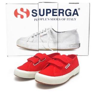 全新 Superga 2750 義大利經典帆布鞋 魔鬼氈 零碼童鞋 臺南市