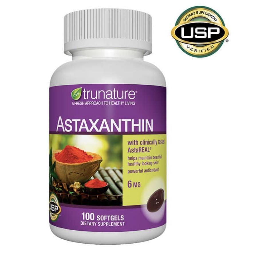 美國好市多代購 costco Trunature Astaxanthin 6mg 蝦紅素膠囊 100顆