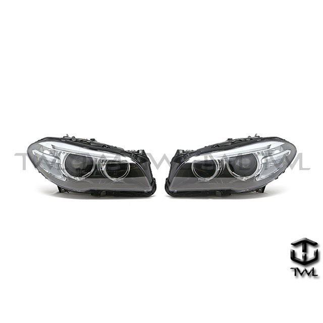 <台灣之光>BMW寶馬F10 F11 16 15 14 17 年原廠款式HID專用歐規黑底魚眼光圈大燈