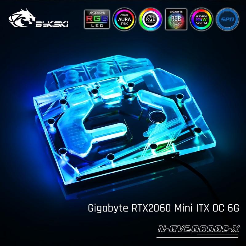 Bykski N-GV2060OC-X技嘉RTX2060 Mini ITX OC 6G的全蓋顯卡水冷塊
