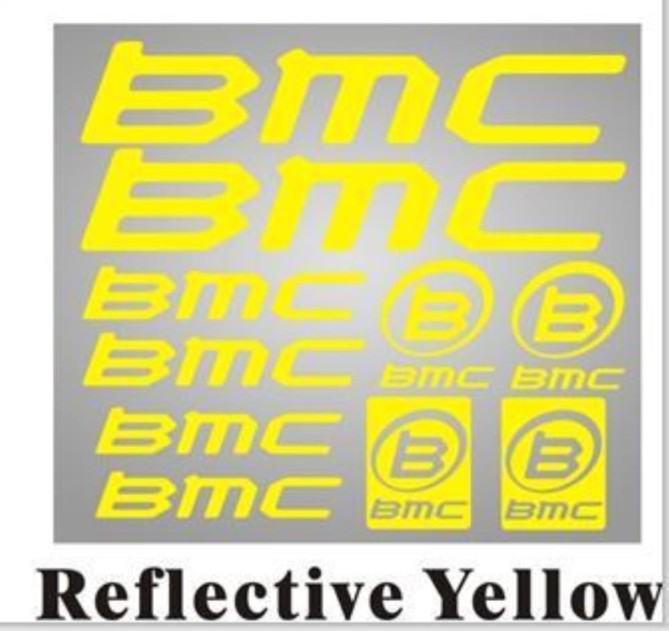 自行車車架車身反光BMC貼紙公路車MTB防水貼花