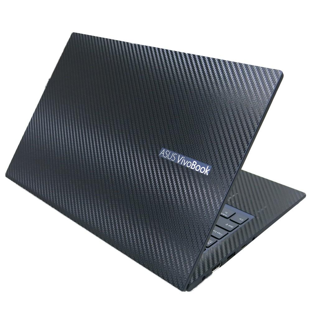【Ezstick】ASUS M413 M413IA Carbon黑色立體紋機身貼 (含上蓋貼、鍵盤週圍貼) DIY包膜
