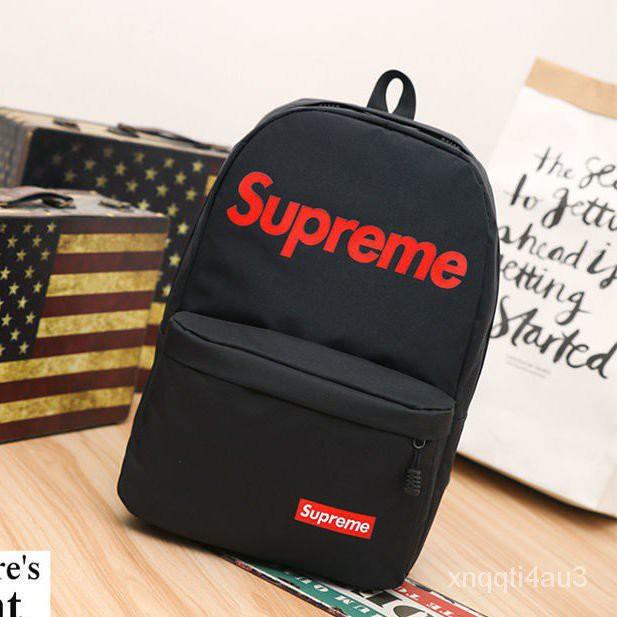 Supreme  雙Logo 後背包 背包 肩背包 包包 旅行包 上課 運動 黑/紅 ZfmT