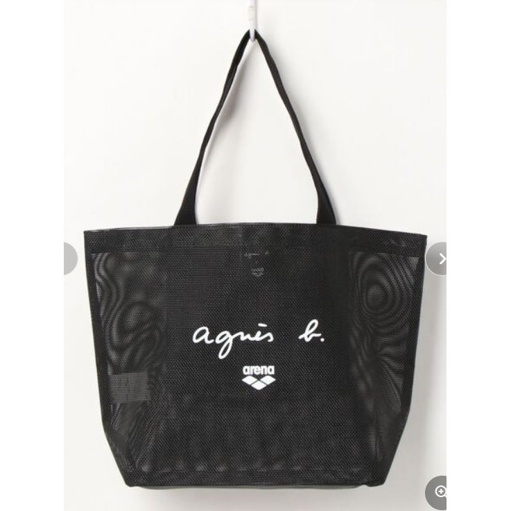 NECOS❤日本agnes b. voyage~2021年款ARENA 聯名網狀托特包/沙灘包/肩背包/網袋