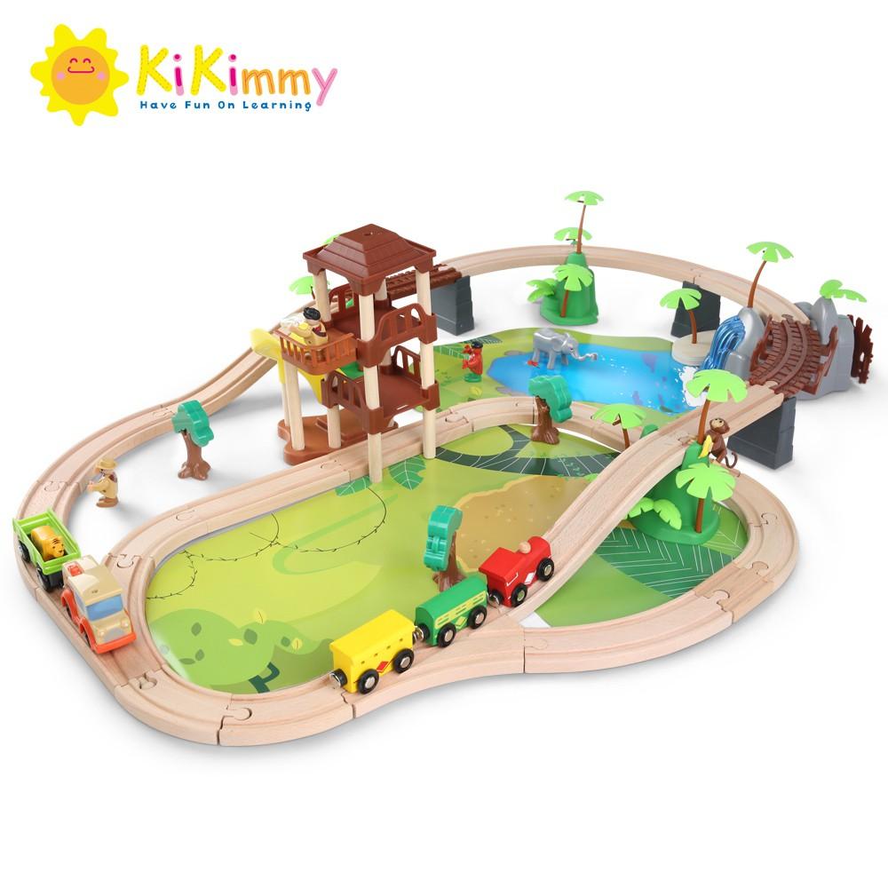 Kikimmy 叢林木製電動軌道車組(107件組)K454