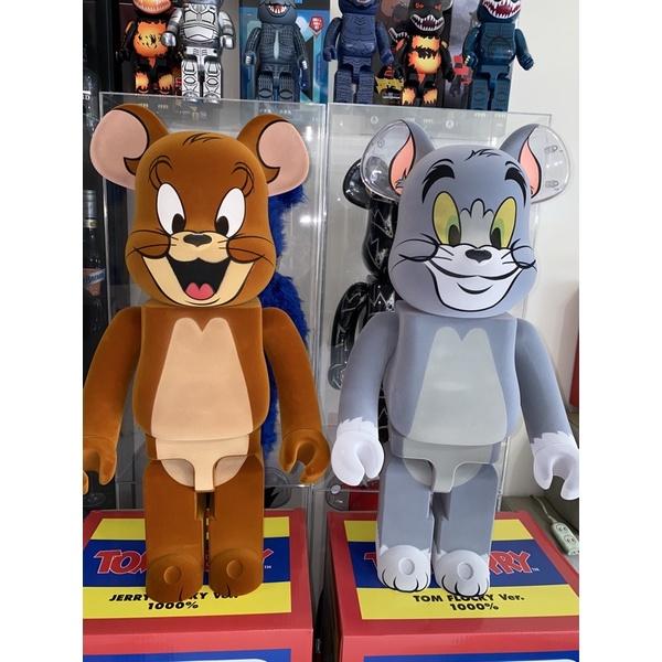 BE@RBRICK Tom and Jerry 湯姆貓 & 傑利鼠 植絨款 庫柏力克熊 積木熊 暴力熊 1000% 現貨