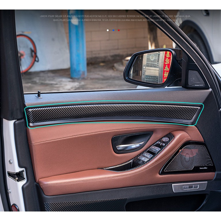 BMW 11-17年 F10 F11 車門 門板飾條 裝飾條 門板 卡夢 ABS 碳纖紋 520 528 535