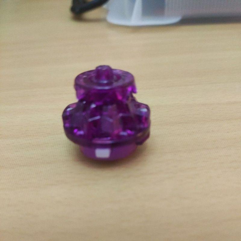 正版戰鬥陀螺-Ds軸-透明紫色