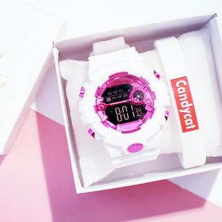 買一送三【手錶+禮盒+手環】同款卡西歐黑金GA橡膠 ins防水電子運動手錶 韓版簡約潮流男女原宿學院風電子表LED手錶