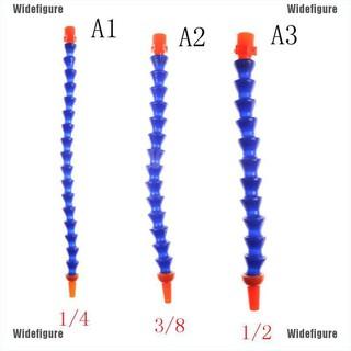 "Widefigure柔性1/ 4"" 3/ 8"" 1/ 2""水油冷卻劑軟管圓形噴嘴,無開關"
