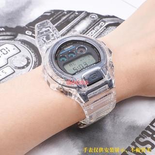 最新上市☍替換卡西歐手表G-SHOCK手表帶表殼配件dw6900冰川透明改裝3230男