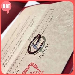 卡家釘子戒指鍍18K金頭尾帶鑽戒指開口情侶對戒最新款LOVE系列鑲鑽戒指批發卡地亞戒指Cartier生日禮物情人節禮物