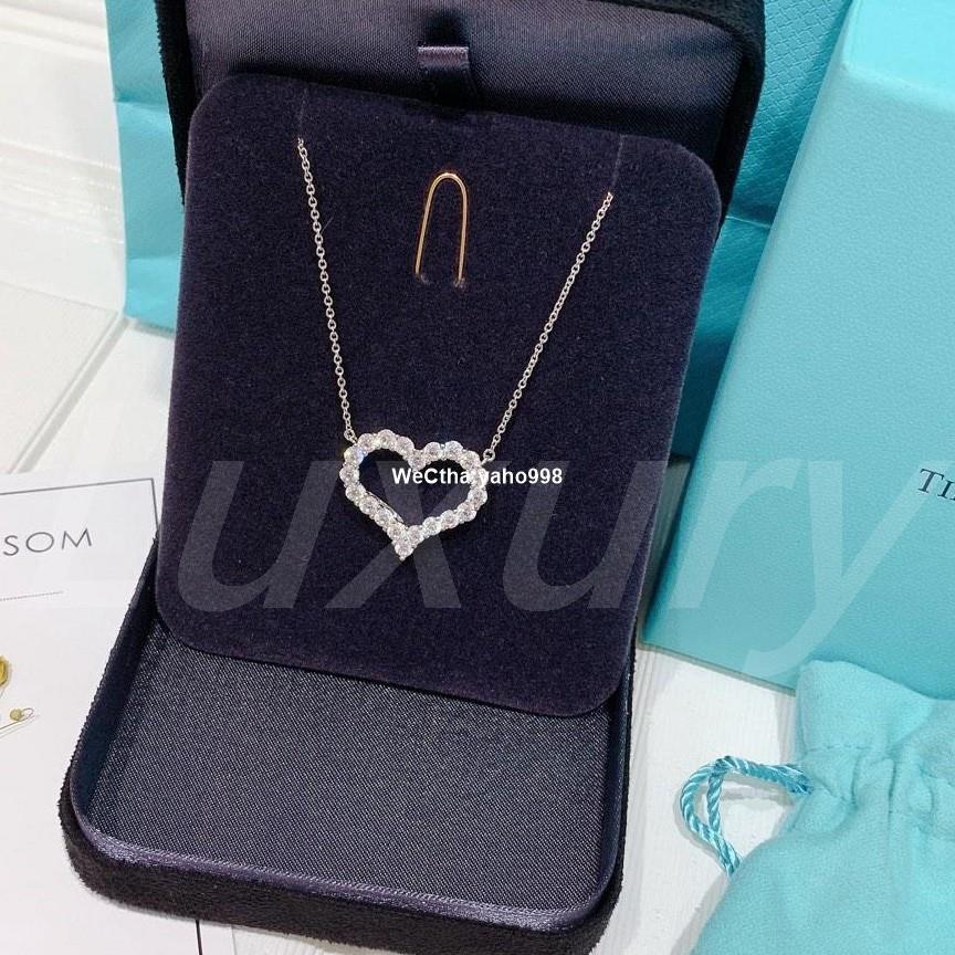實拍 Tiffany &Co. 蒂芬妮 愛心形狀鑽石鑲鑽款 18K金 大號現貨 項鍊 現貨
