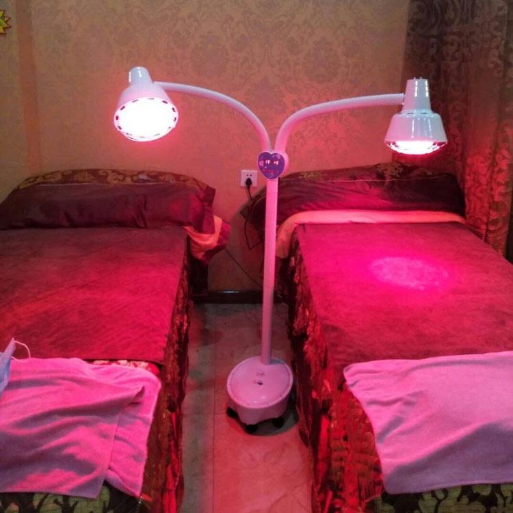 新品 現貨遠紅外線理療燈烤電理療家用儀美容院烤燈神燈紅外線加熱取暖燈泡
