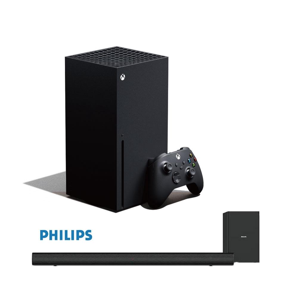 Xbox Series X 主機 1TB+飛利浦 2.1 CH無線重低音 聲霸 HTL-1520B【GAME休閒館】