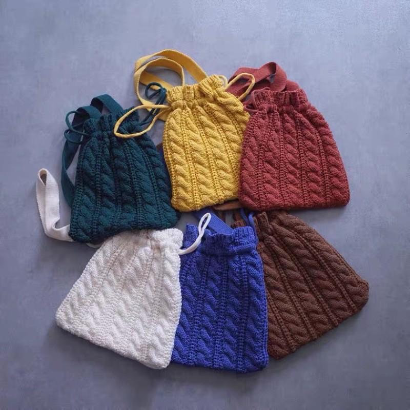 獨角獸公園選物|秋冬復古編織手提包