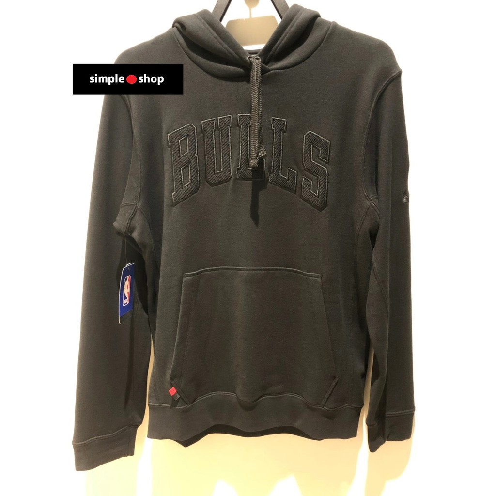 【Simple Shop】NIKE NBA BULLS 芝加哥 公牛 連帽長袖 NBA帽T 黑 AJ2840-010