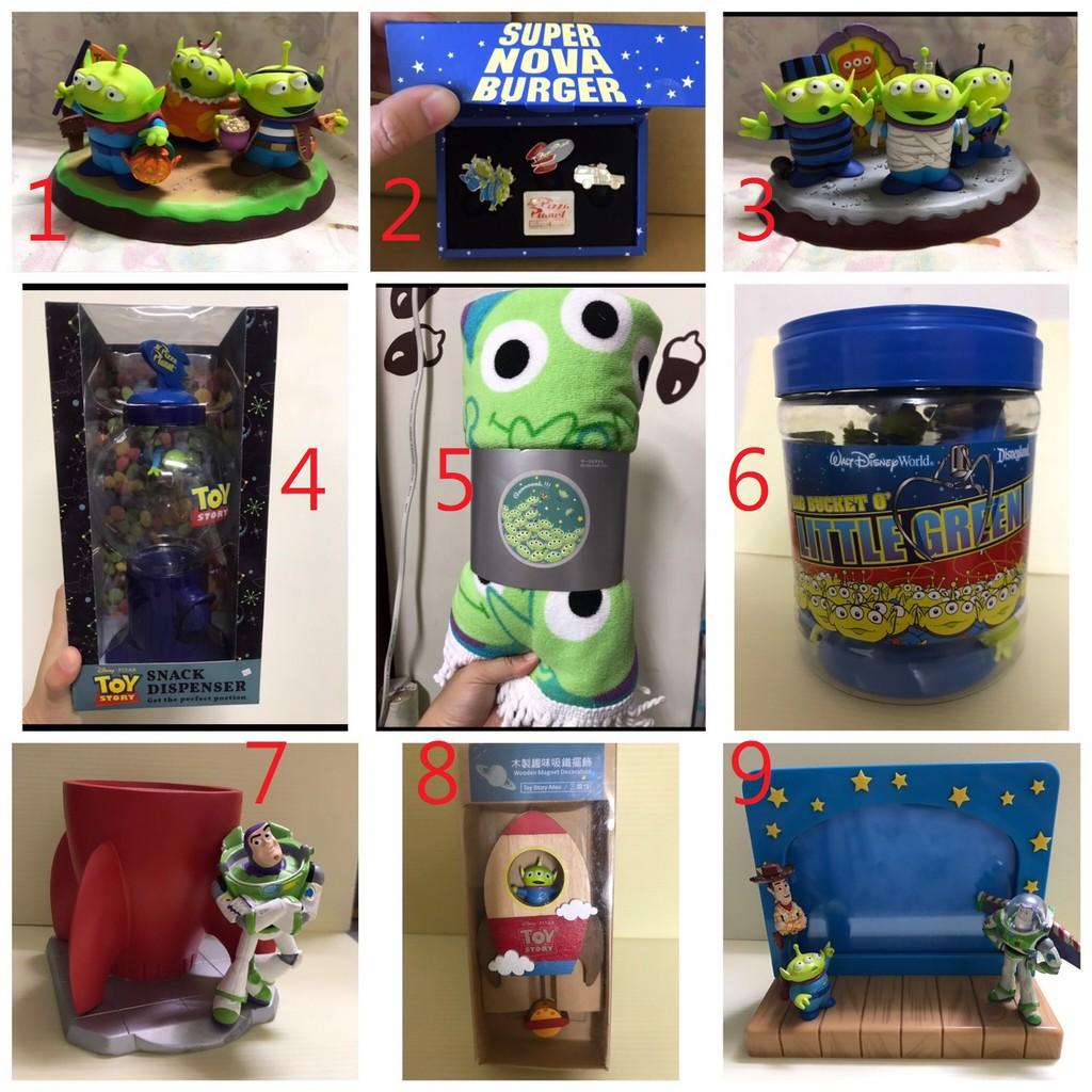 迪士尼 三眼怪 第二彈 玩具總動員 擺飾 相框 地毯 扭蛋機 糖果罐 公仔 徽章