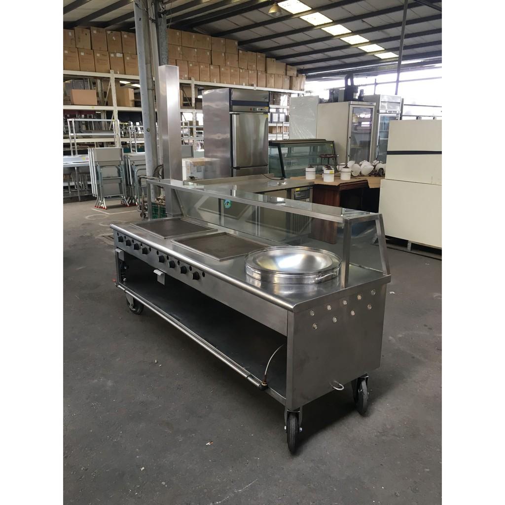 [龍宗清] 白鐵餐車台(煎台) (18091704-0001)不銹鋼餐車台 營業餐車台 可拆式餐車台 流動餐車台 組合餐