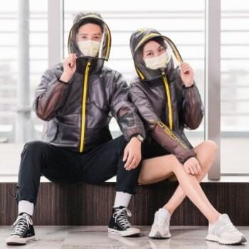 長榮航空機能防護夾克2.0成人款兒童款台灣現貨免運免等正版 武漢肺炎新冠肺炎口罩外層多層防護特殊材質輕量防風防潑