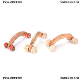 [THE] BBS手持式木製滾輪按摩器工具腳底按摩手腳背部身體Th