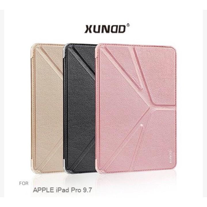 APPLE iPad Pro 9.7 訊迪 XUNDD 迪卡系列 三折皮套 平板保護套 隱磁 側翻 可立