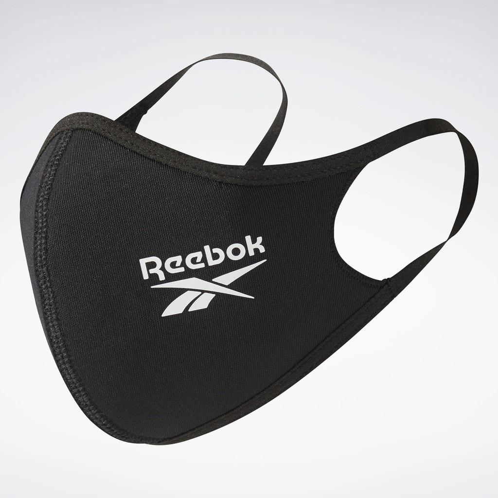 REEBOK FACE COVERS 3-PACK 男/女 口罩 三入裝 可清洗 可重複使用 彈性 黑色 H18222