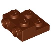 樂高 Lego 紅棕色 側接 轉向 薄板 Reddish Plate Modified 2x2x2/3 99206 積木